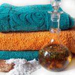 Handtücher und Salz