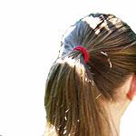 Kinderkopf mit langen Haaren