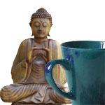 Buddha und Teetasse